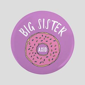 """Alpha Xi Delta Big Donut 3.5"""" Button"""