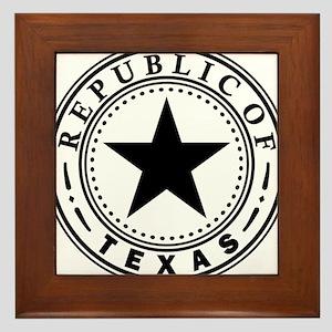 Republic of Texas Framed Tile