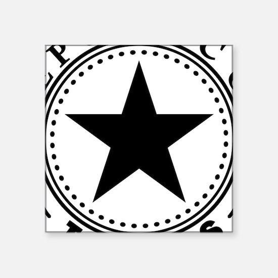 """Republic of Texas Square Sticker 3"""" x 3"""""""