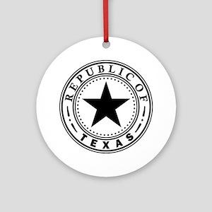 Republic of Texas Round Ornament