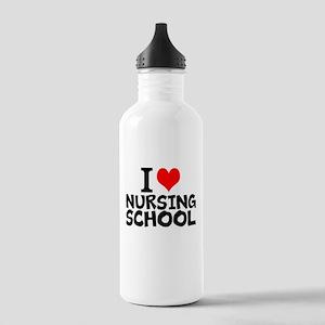 I Love Nursing School Water Bottle