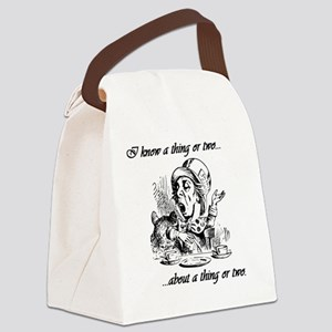 I Know A Thing or Two...About A T Canvas Lunch Bag