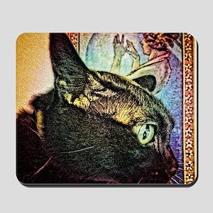 Chat Nouveau Mousepad