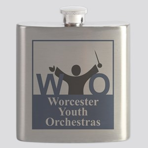 Worcester Youth Orchestras Block Logo Flask