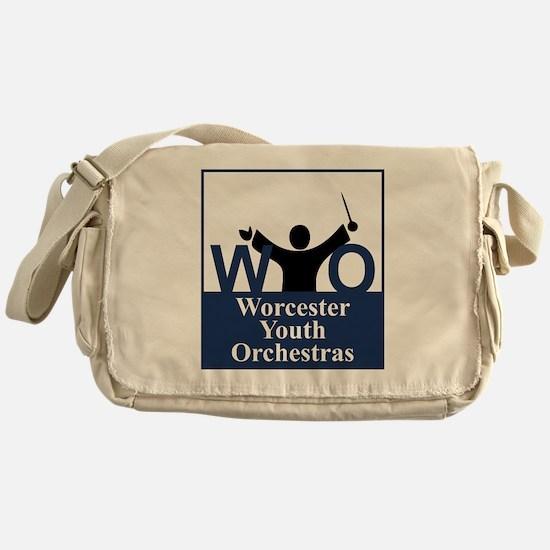 Worcester Youth Orchestras Block Log Messenger Bag