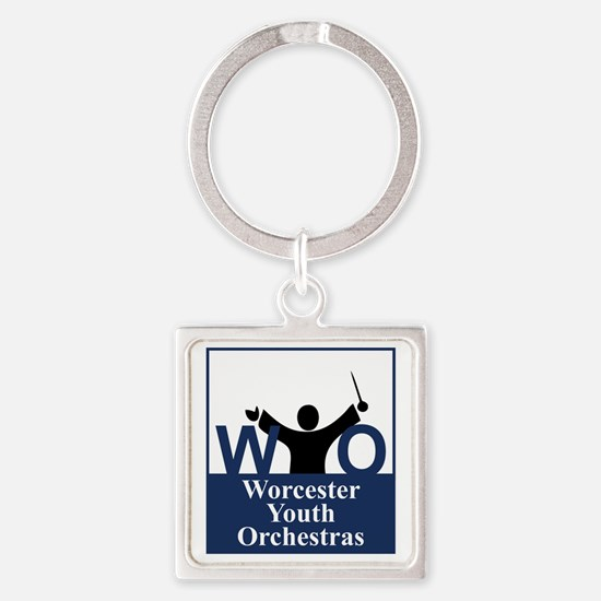 Worcester Youth Orchestras Block L Square Keychain