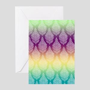 Rainbow Paisley Greeting Card