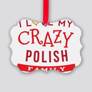 I Love My Crazy Polish Family Picture Ornament