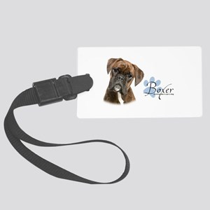 Boxer Puppy Large Luggage Tag
