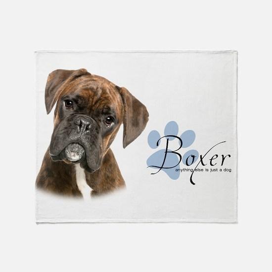 Boxer Puppy Throw Blanket