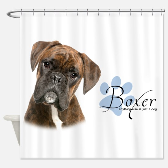 Boxer Puppy Shower Curtain