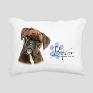 Boxer Puppy Rectangular Canvas Pillow