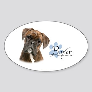 Boxer Puppy Sticker (Oval)