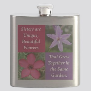 Sisters from the Same Garden Design Flask