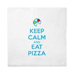 Keep Calm and Eat Pizza 1 Queen Duvet