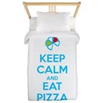 Keep Calm and Eat Pizza 1 Twin Duvet