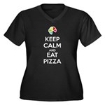 Keep Calm and Eat Pizza 1 Plus Size T-Shirt