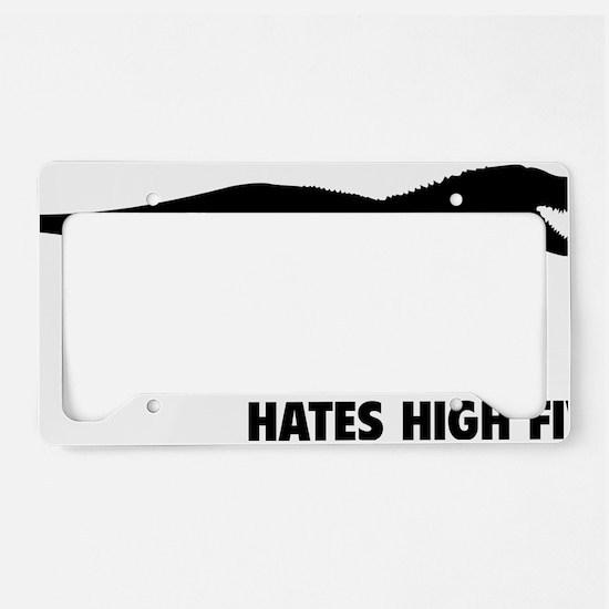 rexHighFives1A License Plate Holder