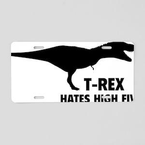 rexHighFives1A Aluminum License Plate