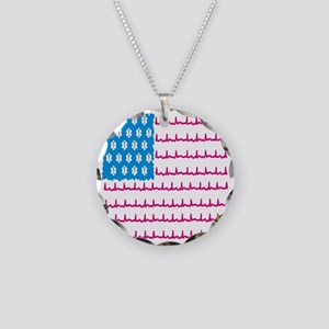 EMS flag Necklace Circle Charm