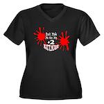 Battleaxe Women's Plus Size V-Neck Dark T-Shirt