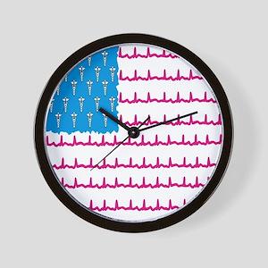 Medical flag Wall Clock