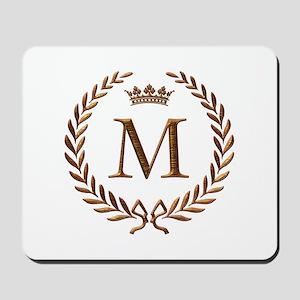 Napoleon initial letter M monogram Mousepad