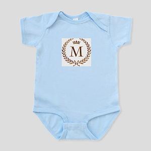 Napoleon initial letter M monogram Infant Creeper