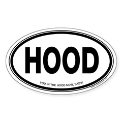 Hood bumper sticker