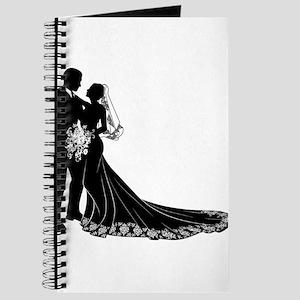 Bride Groom Silhouette Journal