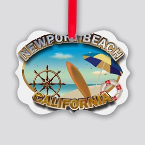 Newport Beach Picture Ornament