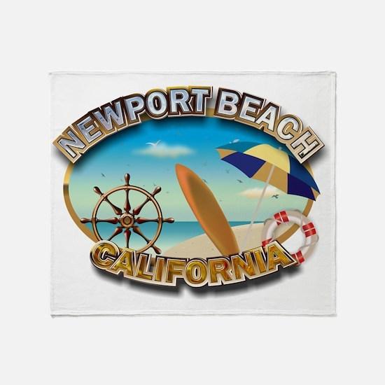 Newport Beach Throw Blanket