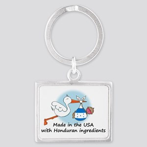 stork baby honduras 2 Landscape Keychain