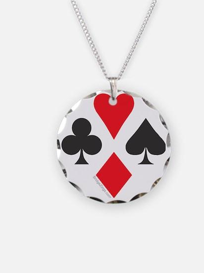 card symbol square Necklace