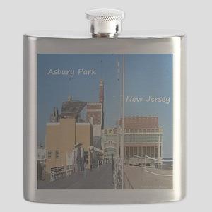 Asbury Park NJ Boardwalk Flask