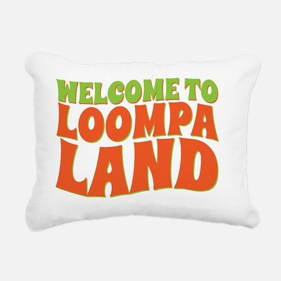 loompa land Rectangular Canvas Pillow