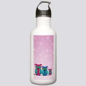 Three Cute Owls Stainless Water Bottle 1.0L