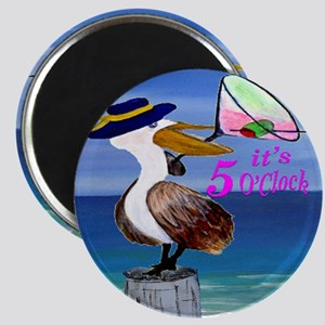 Its 5 OClock Martini Pelican Magnet