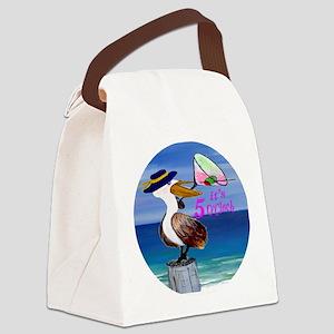 Its 5 OClock Martini Pelican Canvas Lunch Bag