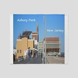 Asbury Park NJ Boardwalk Throw Blanket