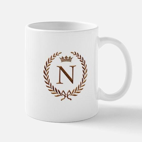 Napoleon initial letter N monogram Mug