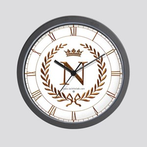 Napoleon initial letter N monogram Wall Clock