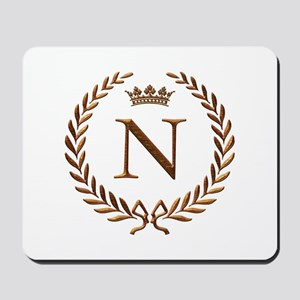 Napoleon initial letter N monogram Mousepad