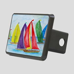 Colorful Regatta Sails Rectangular Hitch Cover