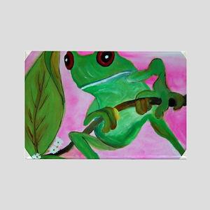 Sassy Frog Rectangle Magnet