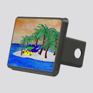 Island Camping Art Rectangular Hitch Cover