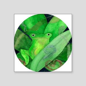 "Tree Frog Square Sticker 3"" x 3"""