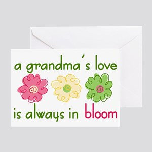 Grandmother greeting cards cafepress grandmas love greeting card m4hsunfo