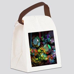 Fractal 3D Bubble Garden Canvas Lunch Bag