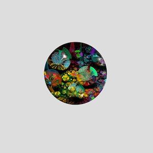 Fractal 3D Bubble Garden Mini Button